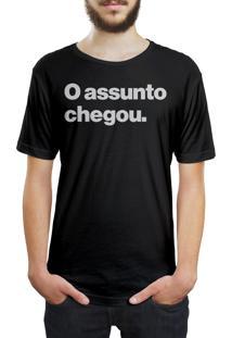 Camiseta Hunter O Assunto Chegou Preta