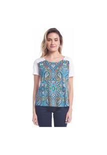 Blusa Estampada - Azul