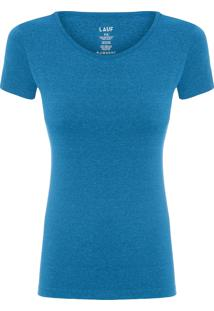 Camiseta Feminina Basic Color - Azul