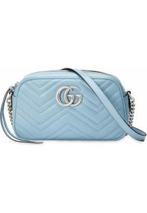 Gucci Bolsa Tiracolo Gg Marmont Pequena - Azul