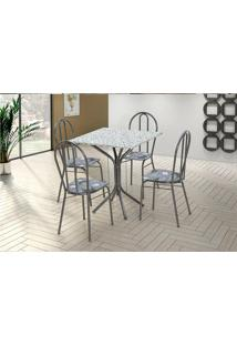 Conjunto De Mesa Para Sala De Jantar Artefamol Thais Com 4 Cadeiras.