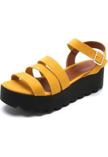 Sandália Fiveblu Tiras Amarelo