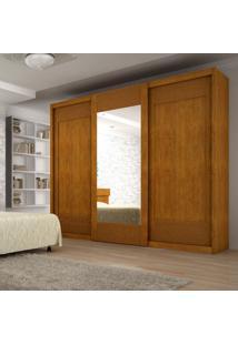 Guarda-Roupa Casal Com Espelho Supreme Imbuia 3 Pt 6 Gv