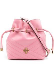 Tory Burch Bolsa Bucket Kira Mini - Rosa