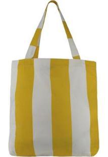 Bolsa Chá De Mulher Sacola Listra Amarela Ecobag - Feminino-Amarelo