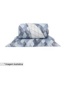 Conjunto De Cobre-Leito Home Design Casal- Azul & Brancosantista