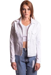 Jaqueta Jeans Aero Jeans Branca - Kanui