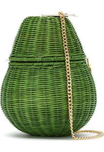 Serpui Clutch De Palha - Verde