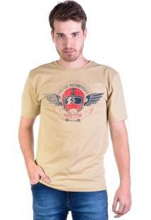 Camiseta Motorcycle Vintage Caqui