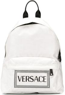 Versace Mochila Com Logo - Branco