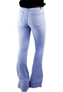 Calça Skinny Multi Ponto Denim Calça Flare Jeans