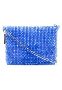 Bolsa Clutch Midi Lavender - Azul