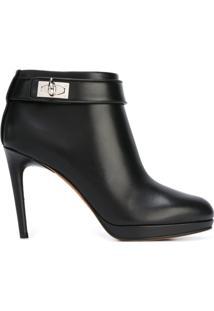 Givenchy Ankle Boot De Couro Modelo 'Shark Tooth' - Preto