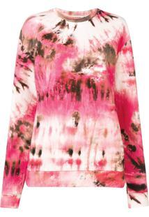 Msgm Blusa Tie Dye - Rosa