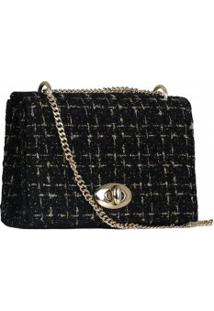 Bolsa Zariff Shoes Clutch Tweed