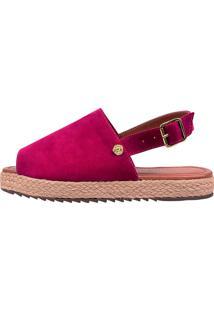 Sandália Eleganteria Anabela Tratorada Pink