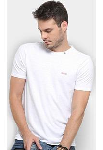Camiseta Replay Botonê Logo Masculina - Masculino-Branco