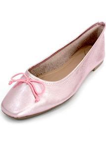 Sapatilha Couro Dali Shoes Bailarina Rosa - Kanui