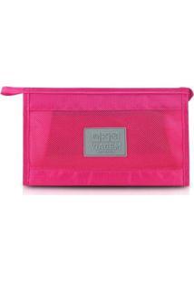 Necessaire Jacki Design De Viagem De Poliéster - Unissex-Pink