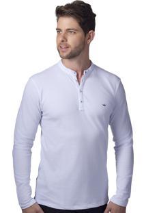 Camisa Gola Padre Alfaiataria Burguesia Branca Slim Fit