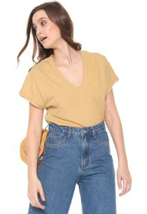 Camiseta Colcci Lettering Amarela - Kanui