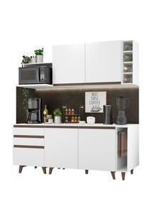 Cozinha Completa Madesa Reims 200001 Com Armário E Balcão Branco Cor:Branco