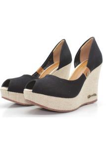 Scarpin Barth Shoes Noite Lona - Preto