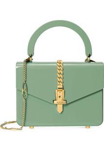 Gucci Bolsa Sylvie 1969 Plexiglas Mini - Verde