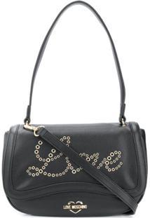 Love Moschino Love Eyelet-Embellished Shoulder Bag - Preto