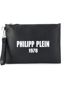 Philipp Plein Textured Clutch Bag - Preto
