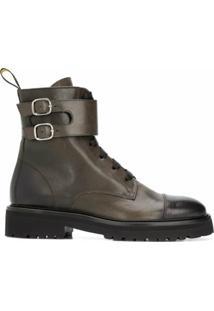 Doucal'S Ankle Boot Com Fivela - Preto