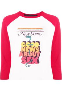 Marc Jacobs Blusa New York Magazine De Jersey - Branco