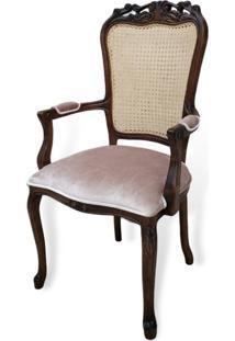 Cadeira Luis Xv Com Braço Com Palhinha Com Pinturas E Tecidos Personalizáveis