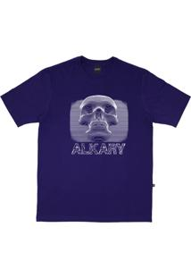 Camiseta Alkary Caveira 3D Roxo