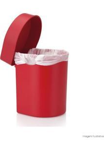 Lixeira De Polipropileno Para Pia Hide 3,5 Litros Vermelha Ou