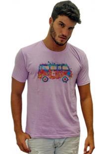 Camiseta Joss Estonada Kombi Color Lilás