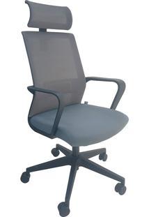 Cadeira Presidente Mko-027-Marka Móveis - Cinza