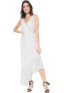 Vestido Lez A Lez Midi Rustique Branco