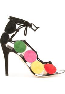 Charlotte Olympia Sandália Color Block - Estampado