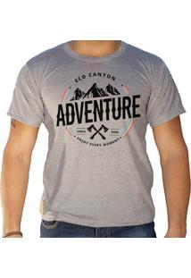 Camiseta Masculina Eco Canyon Enjoy Every Moment Cinza