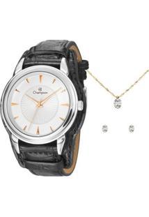 Relógio Champion Feminino Cn20355C - Feminino-Preto