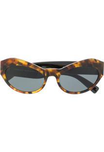 Versace Eyewear Embellished Sunglasses - Marrom