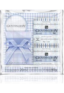 Kit Giovanna Baby Blue Colônia 20Ml + Sabonete Em Barra 2 Unidades 90G + Nécessaire Kit Giovanna Baby Blue Colônia 20Ml + Sabonete Em Barra 90G 2 Unid