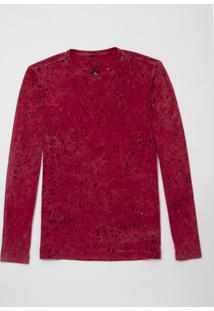 Camiseta John John Ml Basic Devore Malha Rosa Masculina (Rosa Escuro, P)
