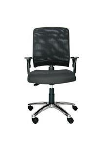 Cadeira Ergonômica Prolabore. Linha Balance. Alumínio. Ajuste Lombar. Braços Ajustáveis. Encosto Tela. Tecido. Prolabore Produtos Ergonômicos