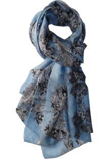 Lenço Zohar Floral Azul