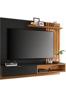 Painel Bancada Suspensa Para Tv Até 65 Pol. 180Cm Ripado Palmas C05 Pr
