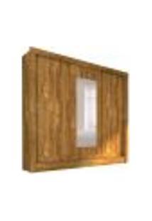 Guarda-Roupa Casal Com Espelho Bahia Flex Color 3 Pt Ipe Rustic E Off White