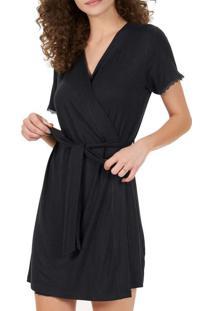 Robe Feminino Curto Cor Com Amor 50095 Preto