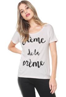 Camiseta Mob Crème De La Crème Off-White